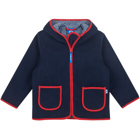 Finkid Tonttu Zip-in Fleece Jas Kinderen, navy/red